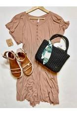 Button Down Detail Dress - Ginger