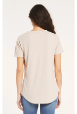 Z Supply Cotton Slub Pocket Tee - Ash Pink