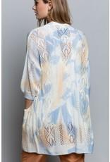 Knit Cardigan - Dip Dye