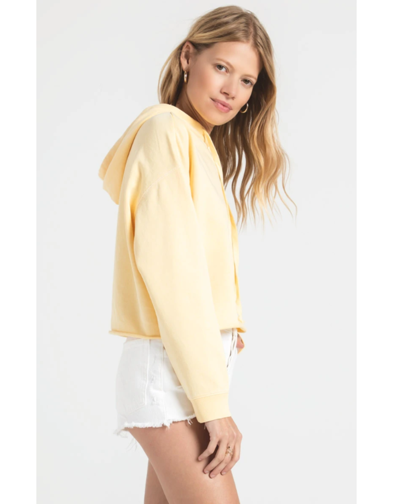 Z Supply Gia Washed Hoodie - Yellow