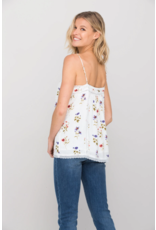 Miss Me Floral Lace Trim Cami