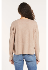 Z Supply Robbie Rib Long Sleeve - Heather Latte