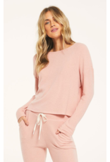 Z Supply Leila Rib Long Sleeve - Rosy pink