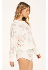 Z Supply Elle Floral Long Sleeve - Bone