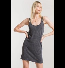 Z Supply Mini Leopard Dress - Charcoal Grey
