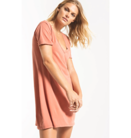 Z Supply Organic Cotton T-Shirt Dress - Sand