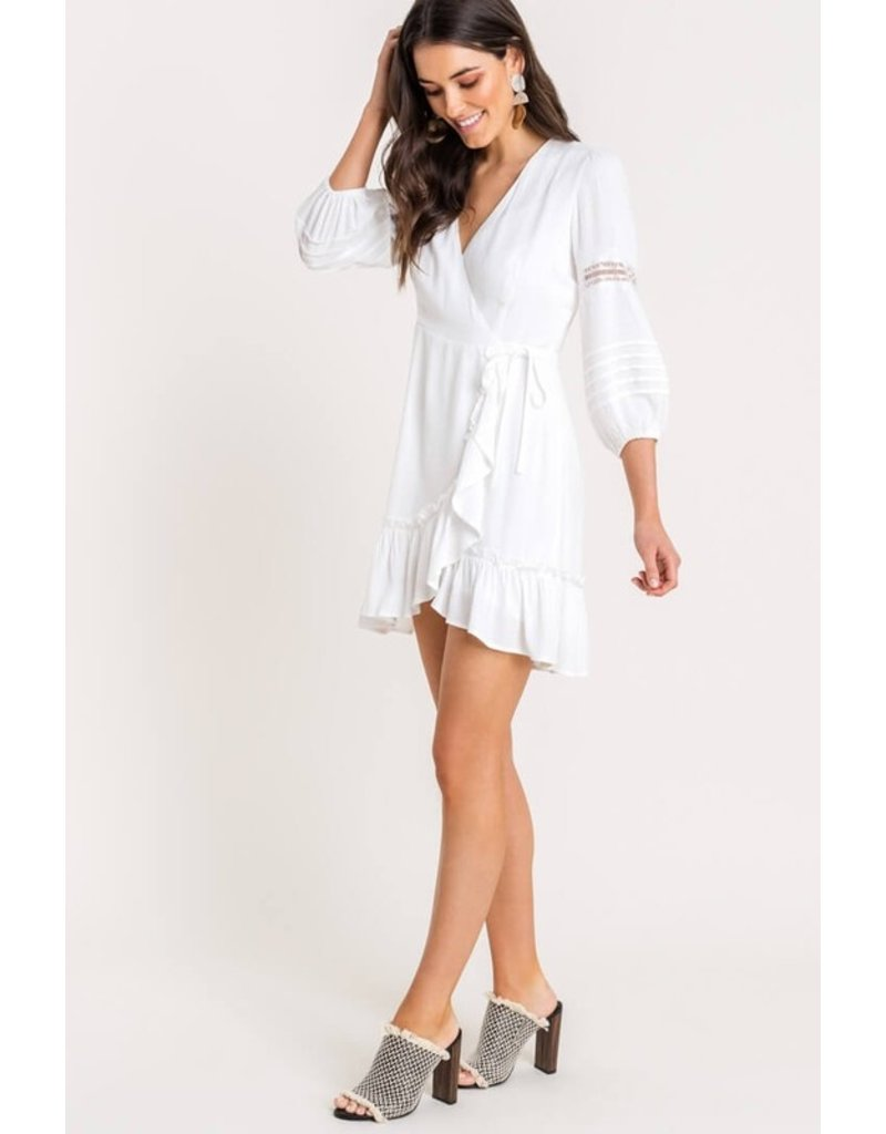 Lush Button Up Dress - Off White