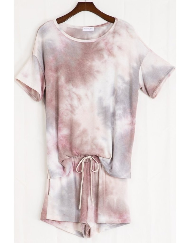 Tie Dye Top - Plum Multi
