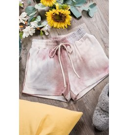 Tie Dye Shorts - Plum Multi