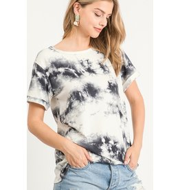 Tie Dye Top  - Off White