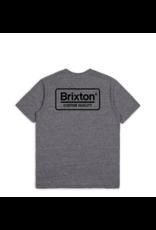 Brixton Palmer Premium Tee - Heather Grey/Black