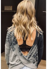 Tie Dye Thermal w/open back - Charcoal