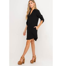 Lush Novak Shift Dress - Black