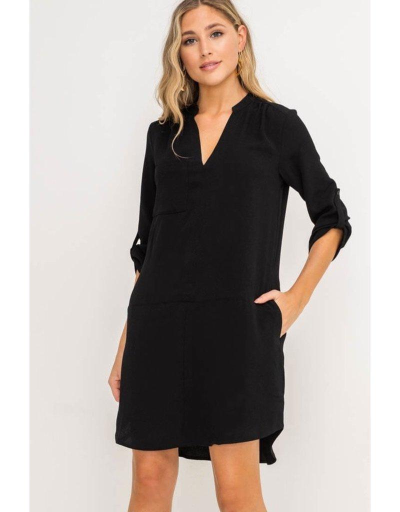 Lush Novak Shift Dress - Black