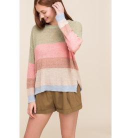 Lush Light Knit Stripe Sweater