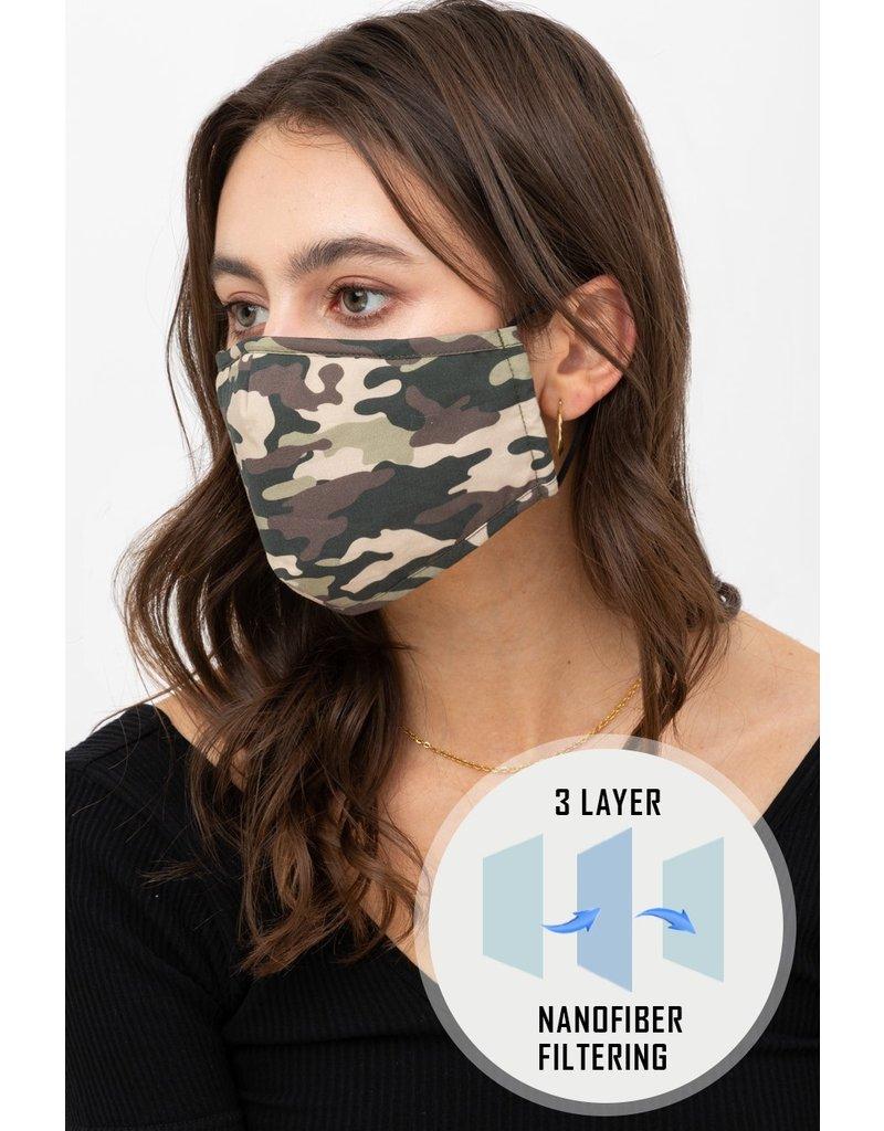 Adjustable Mask Printed