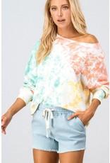 Tie Dye Sweatshirt - Ivory Multi