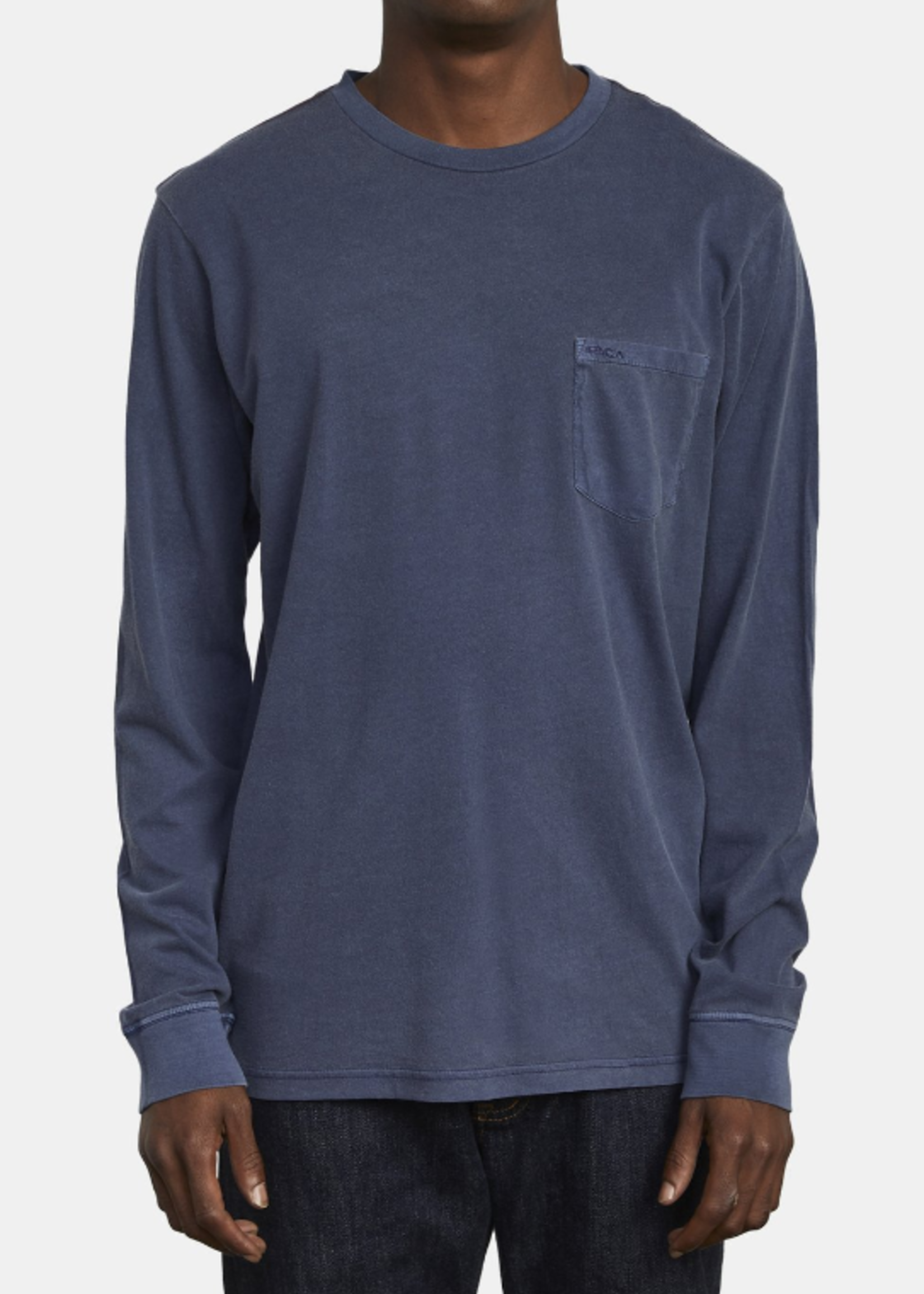 RVCA PTC Pigment Long Sleeve - Moody Blue