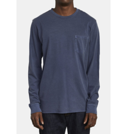 RVCA PTC Pigment Long Sleeve - Moody Blue