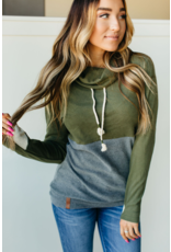 Ampersand Avenue Cowlneck Sweatshirt - Sparks Fly