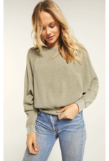 Z Supply Claire Waffle Long Sleeve - Washed Olive