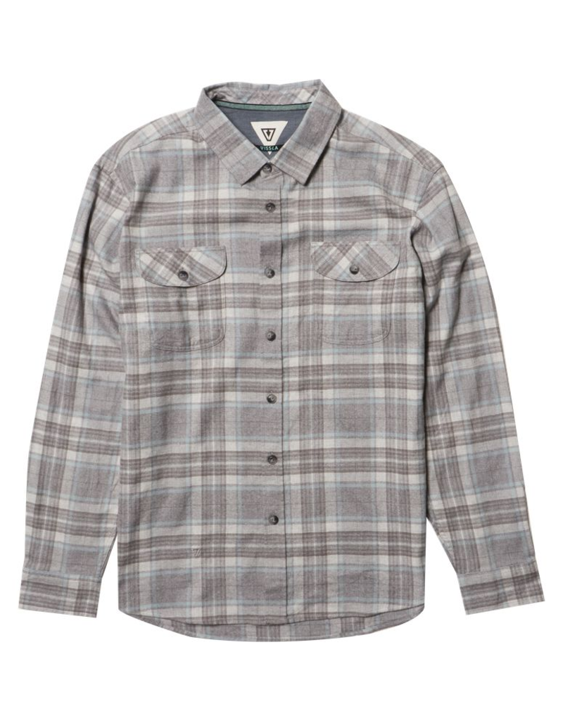 Vissla Central Coast Flannel - Grey/Blue Plaid