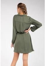 Button up shirt dress - Olive
