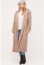 Lush Long Button Down Coat - Mocha