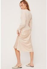 Lush Contrast Sleeve Knit Sweater - Heather Oatmeal