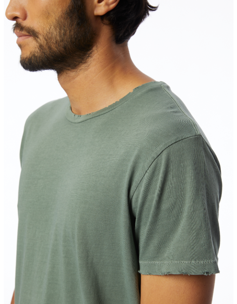 Alternative Distressed Heritage Tee - Green Pigment