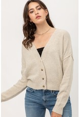 Button Up Soft Cardigan - Oatmeal