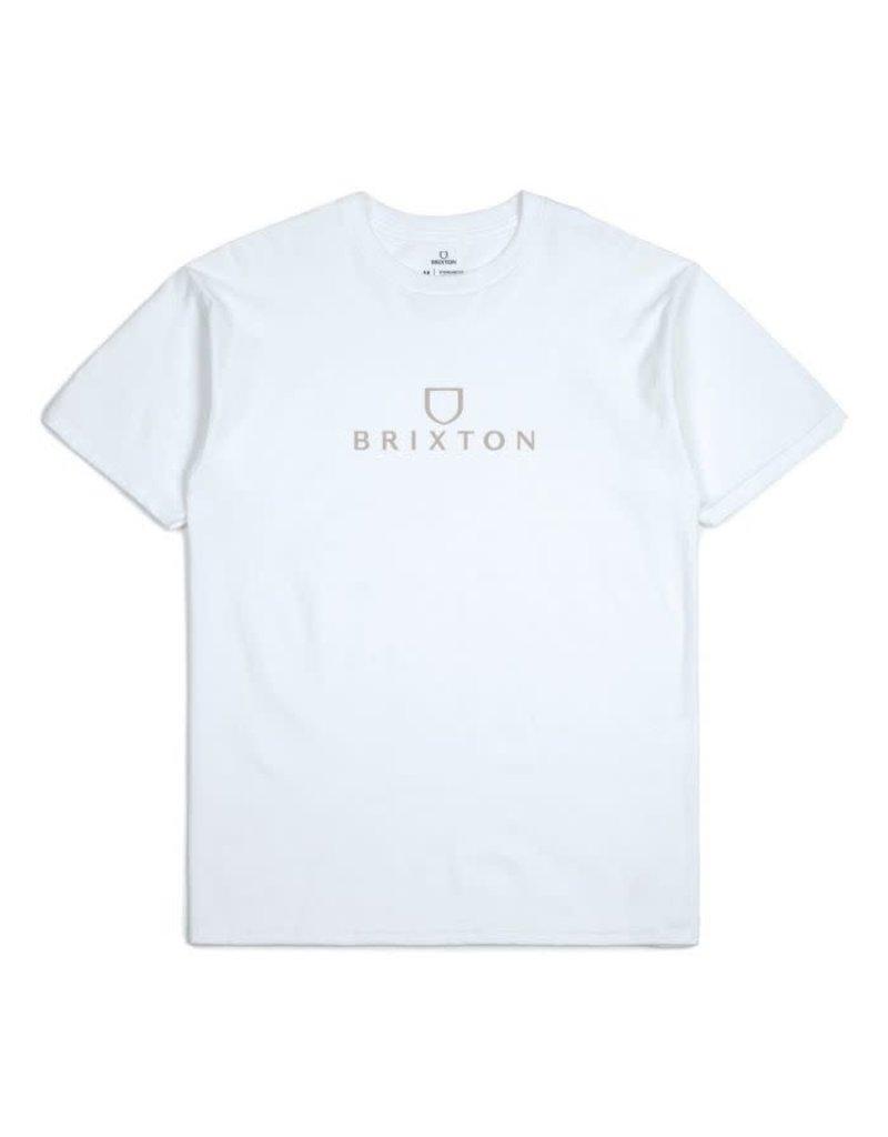 Brixton Alpha short sleeve tee - White