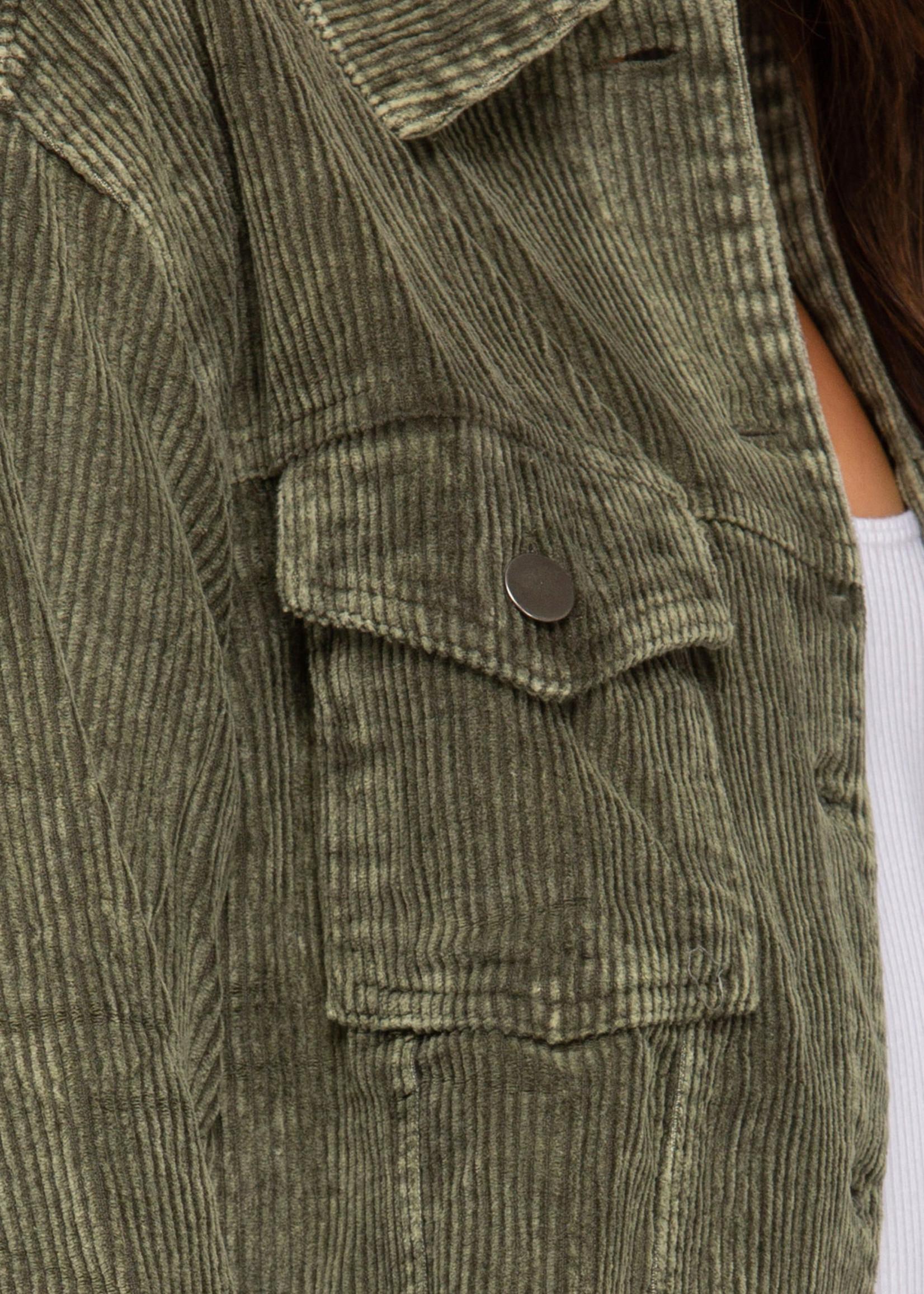 Cord Jacket - Washed Olive