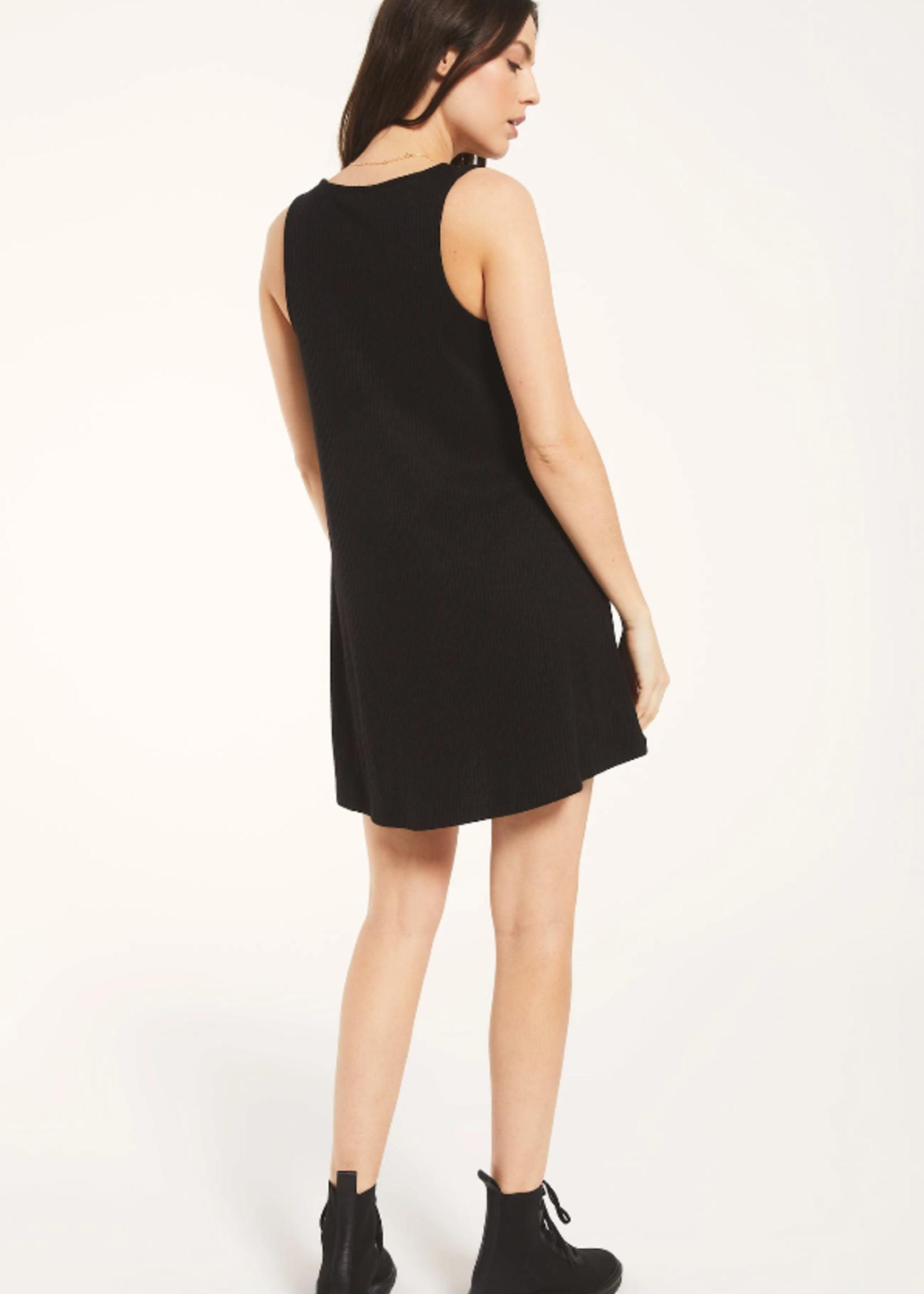 Z Supply Rib button up dress - Black