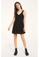 Z Supply Rib button up dress - Black