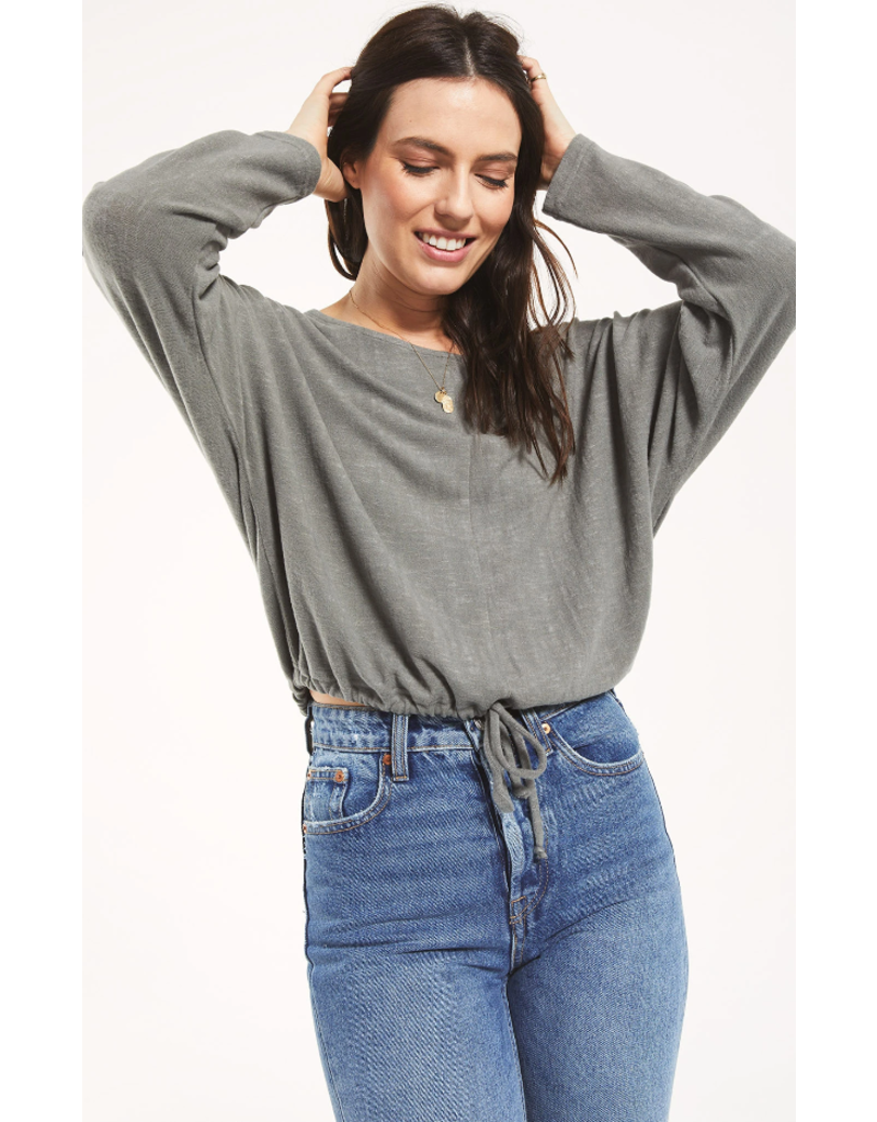 Z Supply Dollie Slub Sweater - Ash Green