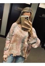 Tie Dye Distressed Sweater