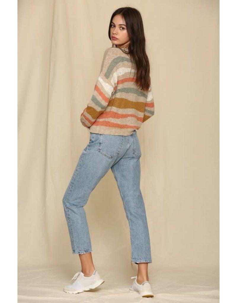 Long Sleeve Stripe Sweater