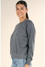 French Terry Crew Neck Sweatshirt - Olive
