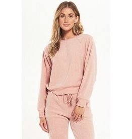 Z Supply Sleep Over Raglan Sweatshirt - Pink
