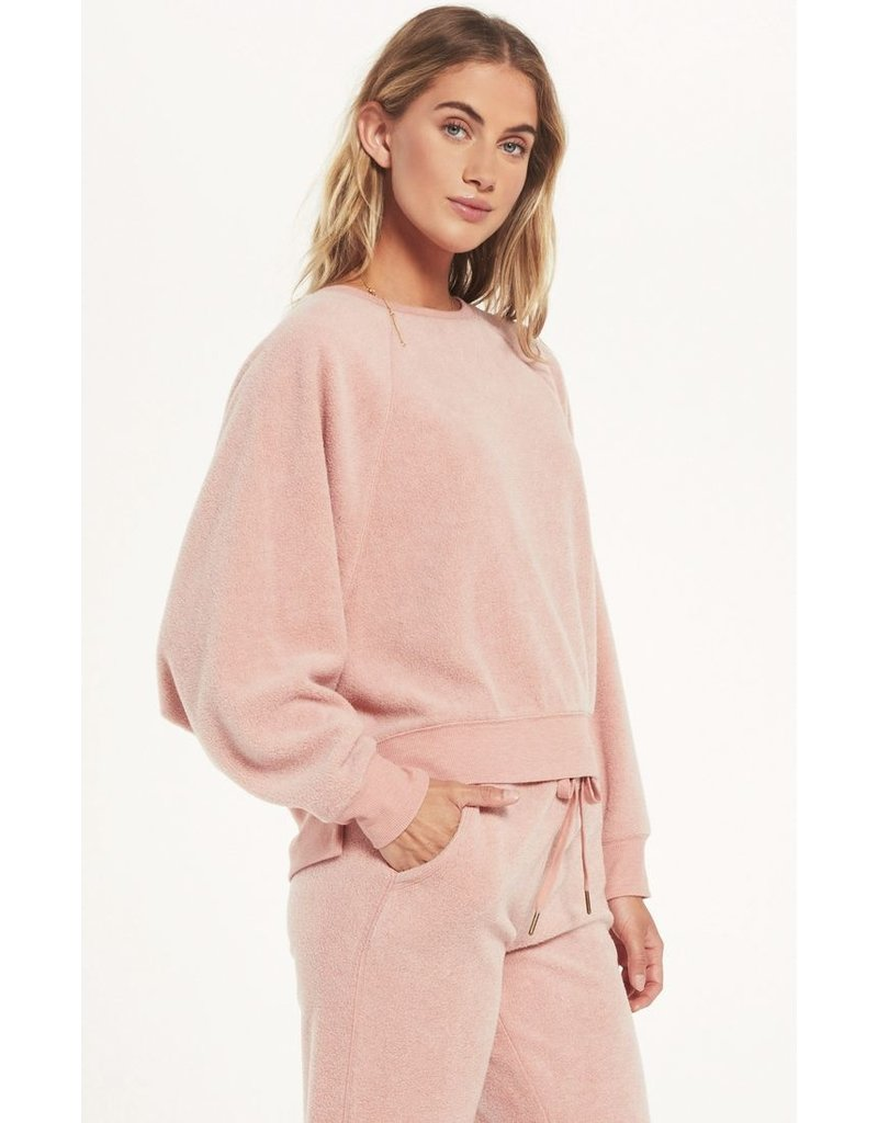 Z Supply Sleep Over Raglan Sweatshirt - Pink
