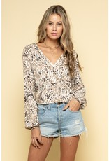 Leopard Satin Top