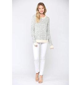 Leopard Sweater - Oatmeal