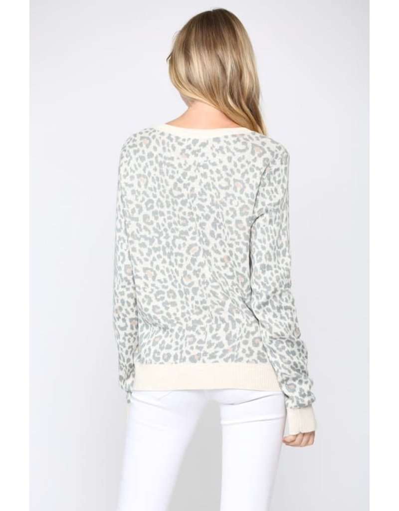 Leopard Sweater - Oatmeal