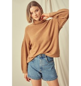High Neck Sweater - Rust