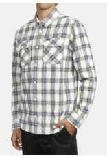 RVCA That'll Work Flannel - Antique White/Blue