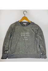 Z Supply Elle All I need Sweatshirt - Charcoal
