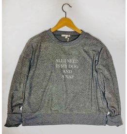 Z Supply Elle All I need Sweatshirt - Charcoal