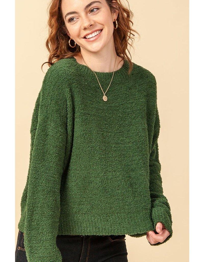 Soft Fuzzy Crewneck Sweater