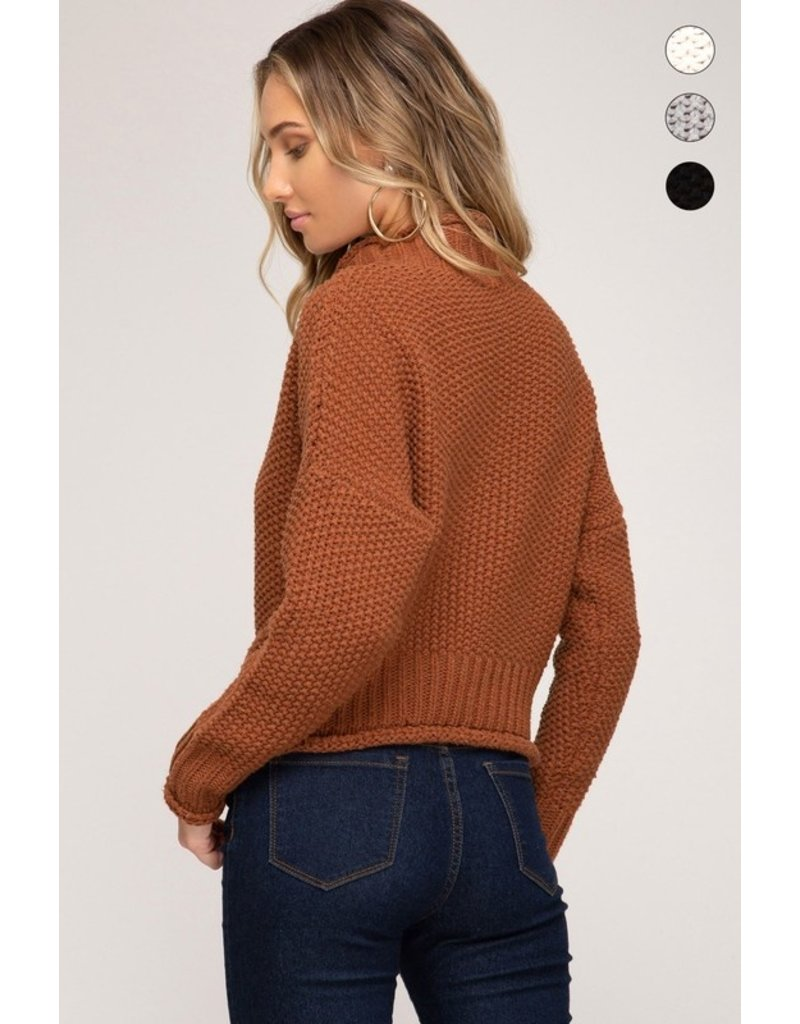 Long Sleeve Sweater - Cinnamon